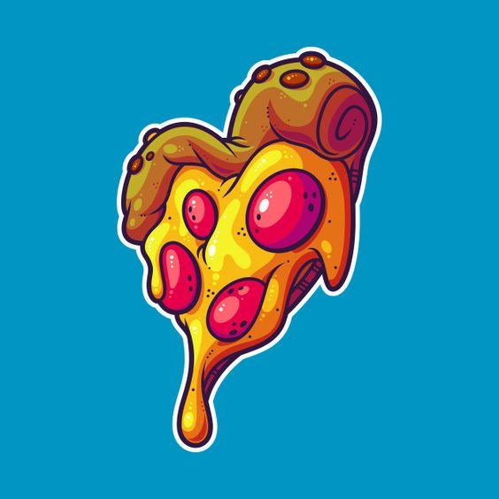 Прикольные и необычные картинки пиццы для срисовки - сборка 4