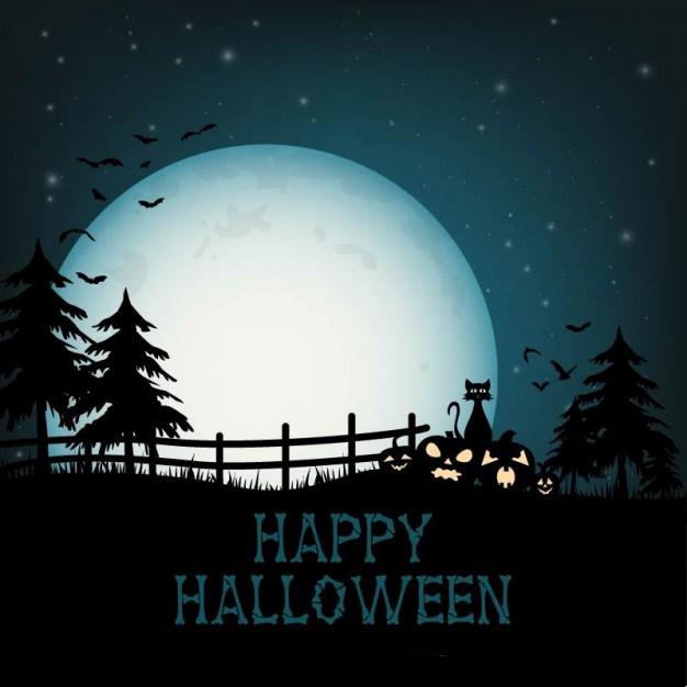 Прикольные картинки поздравления на Хэллоуин - лучшие открытки 1