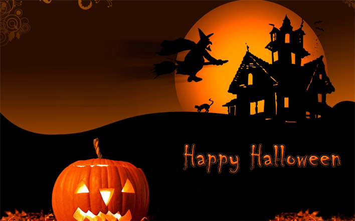Прикольные картинки поздравления на Хэллоуин - лучшие открытки 6