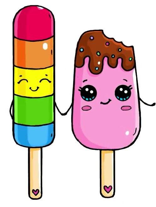 Рисунки и картинки мороженого для срисовки - подборка 2018 11