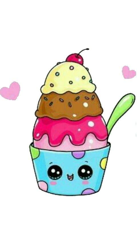 Прикольные картинки мороженого для срисовки