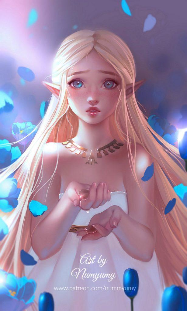 Удивительные и красивые картинки принцесс, принцесс в платьях 21