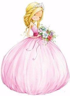 Удивительные и красивые картинки принцесс, принцесс в платьях 9