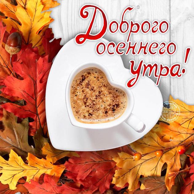 Доброе утро ноября - самые красивые и милые открытки, картинки 6