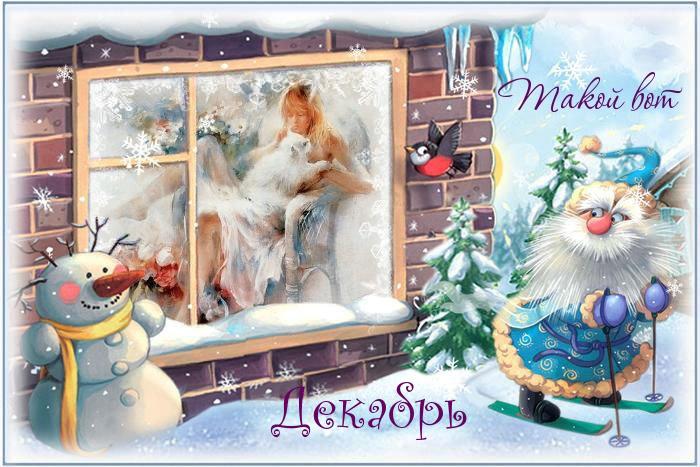 Картинки Вот и декабрь!, Зима пришла - самые прикольные 4