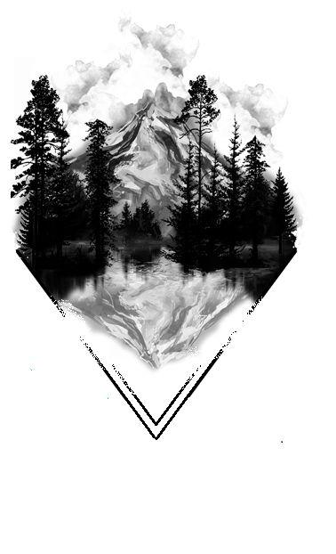 Красивые и прикольные картинки, рисунки гор для срисовки - сборка 10