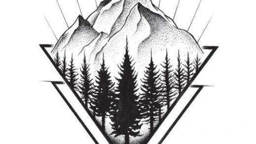 Красивые и прикольные картинки, рисунки гор для срисовки - сборка 5