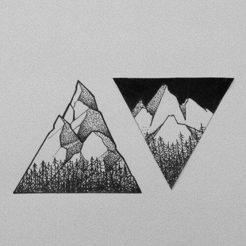 Красивые и прикольные картинки, рисунки гор для срисовки - сборка 6