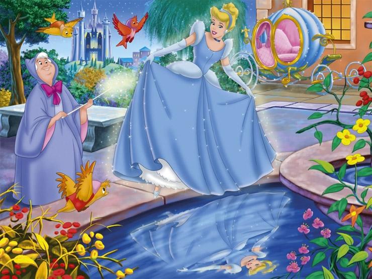 Красивые картинки Золушки для детей из сказки - подборка 1