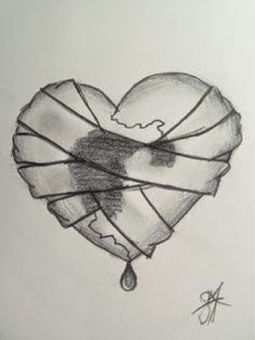 Красивые картинки Сердца для срисовки - самые необычные 14