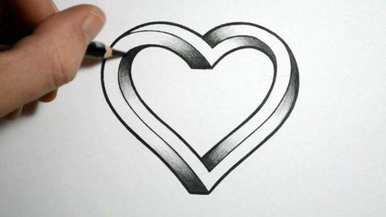Красивые картинки Сердца для срисовки - самые необычные 15