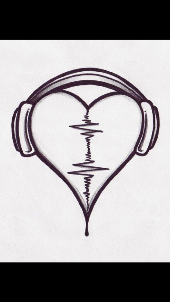 Красивые картинки Сердца для срисовки - самые необычные 2