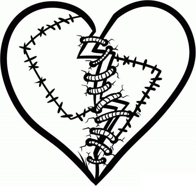 Красивые картинки Сердца для срисовки - самые необычные 4