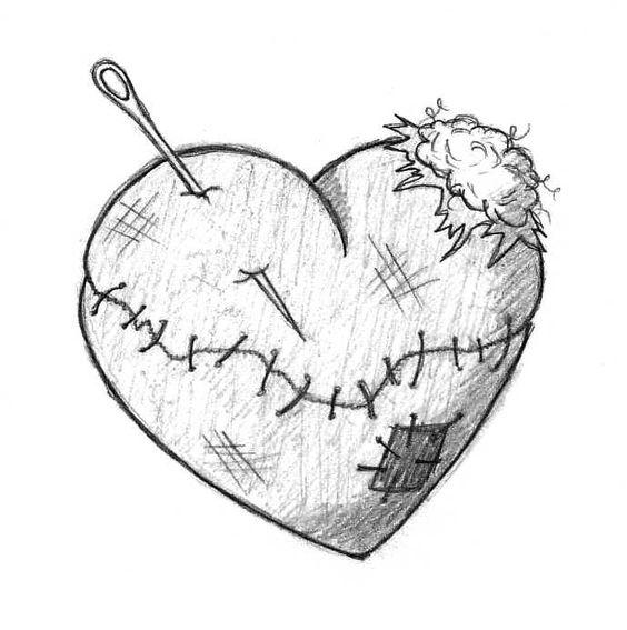 Красивые картинки Сердца для срисовки - самые необычные 7