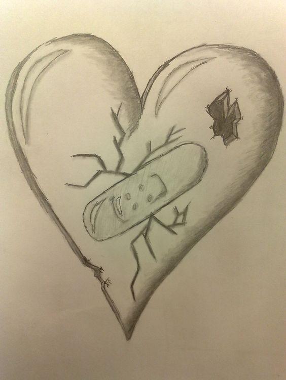 Красивые картинки Сердца для срисовки - самые необычные 8