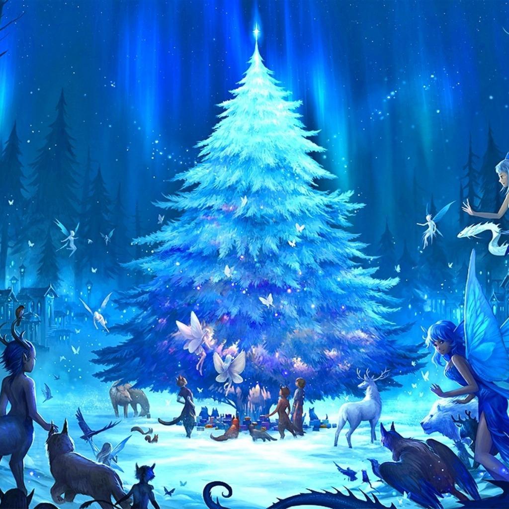 Новый год, подборка очень красивых и необычных картинок в стиле арт 13
