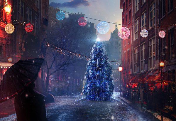 Новый год, подборка очень красивых и необычных картинок в стиле арт 3