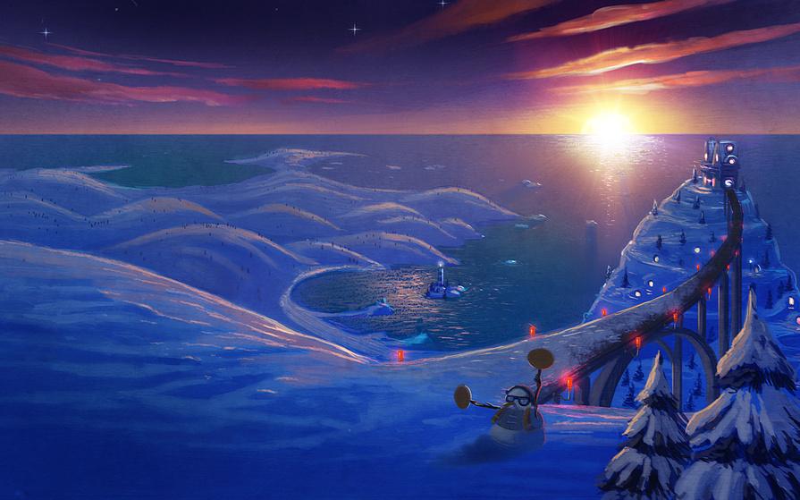 Новый год, подборка очень красивых и необычных картинок в стиле арт 7