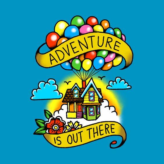 Очень красивые картинки Дом на шариках для срисовки, раскраски - подборка 6