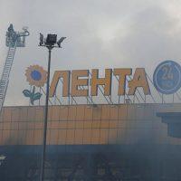Пожар в гипермаркете «Лента» в Санкт-Петербурге - новости 1
