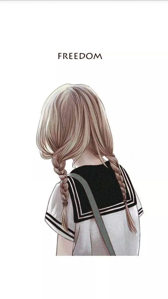 Прикольные картинки девочек и девушек для срисовка - подборка 10
