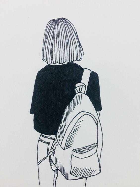 Прикольные картинки девочек и девушек для срисовка - подборка 3