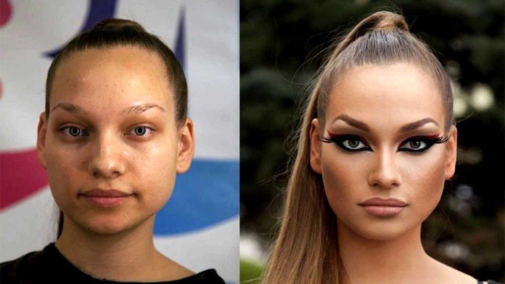 Сравнение девушек с макияжем и без - прикольные фото, картинки 14