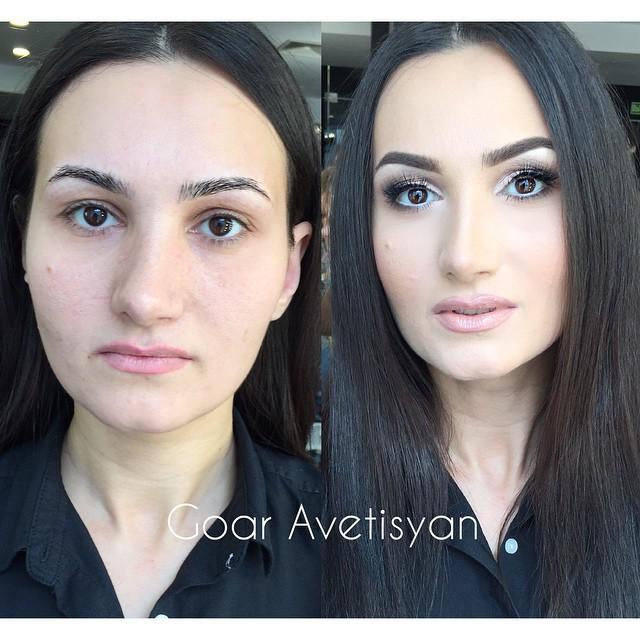 Сравнение девушек с макияжем и без - прикольные фото, картинки 15