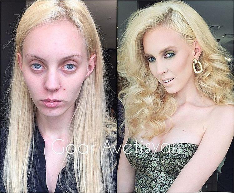 Сравнение девушек с макияжем и без - прикольные фото, картинки 18