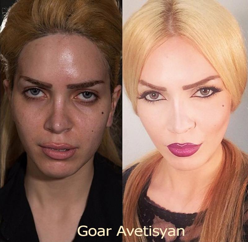 Сравнение девушек с макияжем и без - прикольные фото, картинки 20