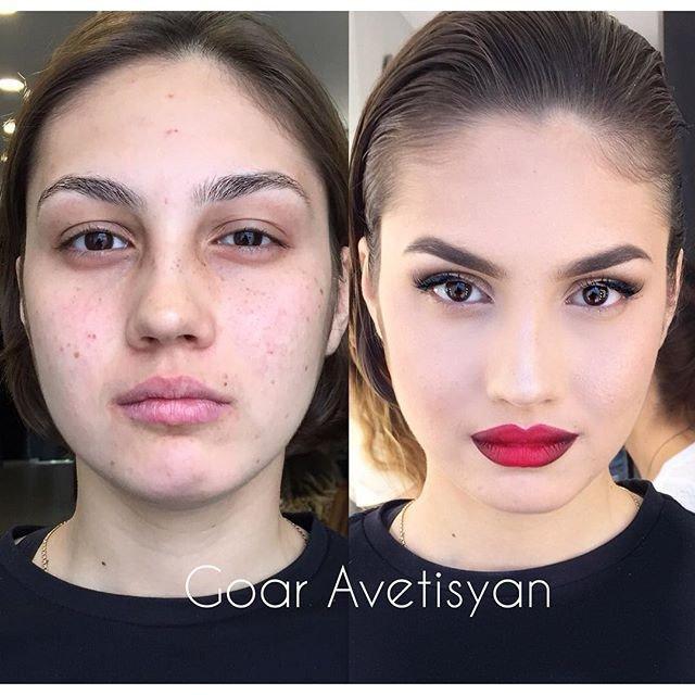 Сравнение девушек с макияжем и без - прикольные фото, картинки 7