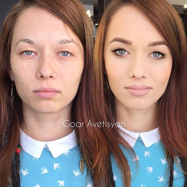 Сравнение девушек с макияжем и без - прикольные фото, картинки 9