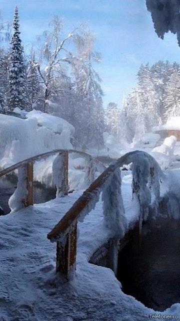 Удивительные картинки на заставку телефона Зима - подборка 11