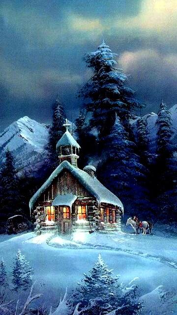 Удивительные картинки на заставку телефона Зима - подборка 4