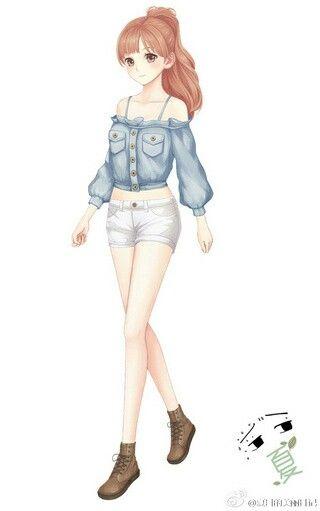Аниме девушки в полный рост - красивые картинки, арт 40 фото 8