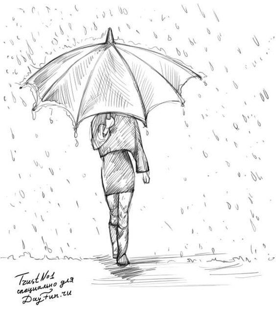 Грусть и одиночество - картинки, рисунки для срисовки, рисования 15