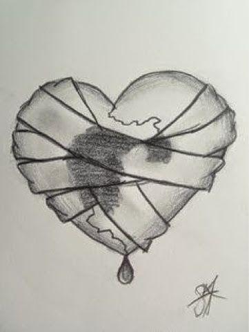 Грусть и одиночество - картинки, рисунки для срисовки, рисования 7