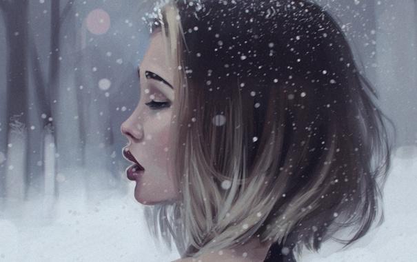 Девушка-зима - удивительные арт картинки, фото, подборка 12