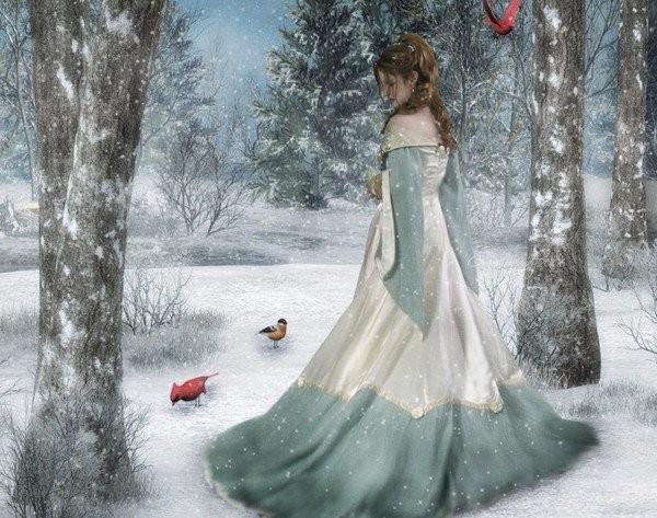 Девушка-зима - удивительные арт картинки, фото, подборка 14