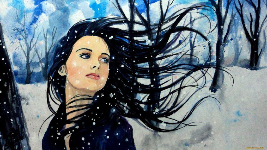 Девушка-зима - удивительные арт картинки, фото, подборка 19