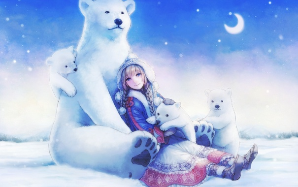 Девушка-зима - удивительные арт картинки, фото, подборка 2