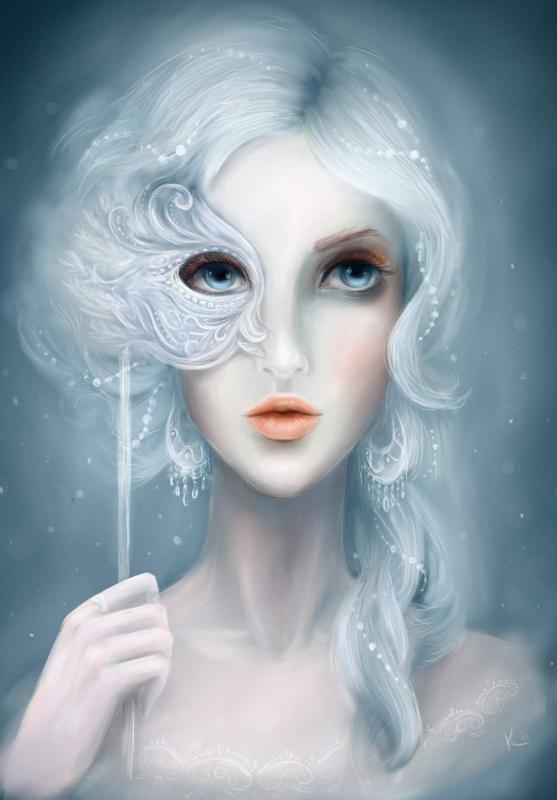 Девушка-зима - удивительные арт картинки, фото, подборка 22