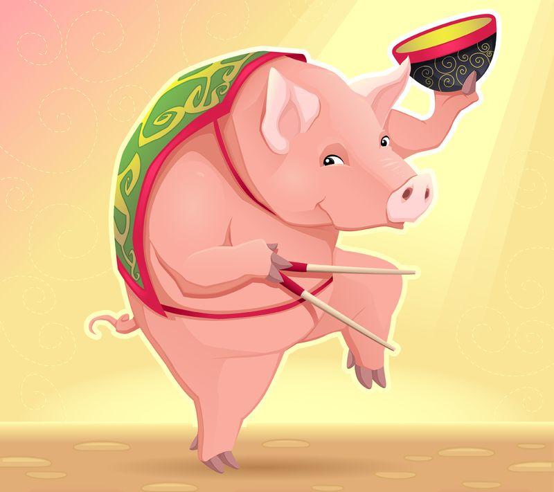 Счастливого, смешные картинки китаец на свинье