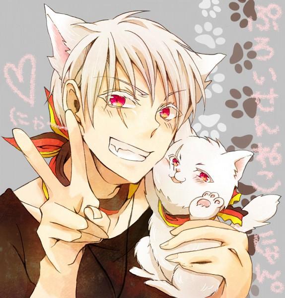 Красивые арты парней и девушек с котами, кошками - подборка 21