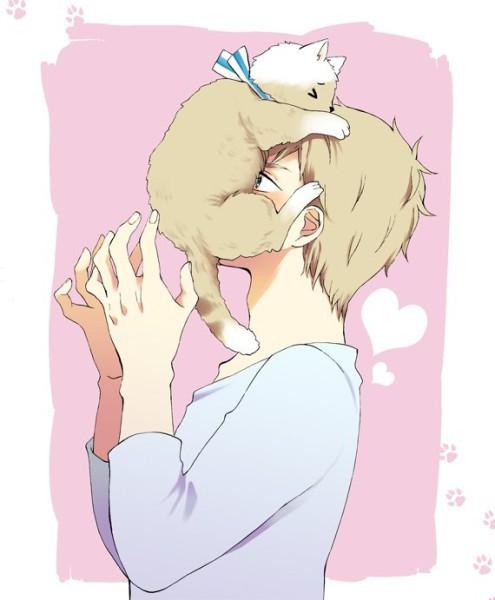 Красивые арты парней и девушек с котами, кошками - подборка 5