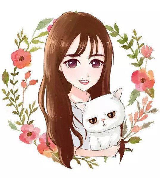 Красивые арты парней и девушек с котами, кошками - подборка 6