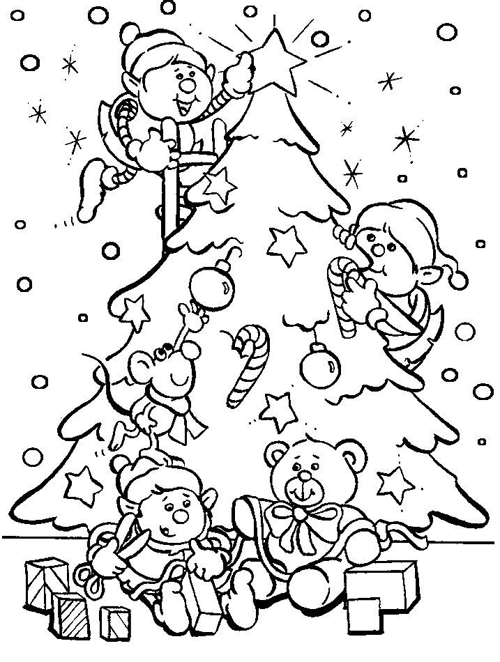 Красивые и интересные картинки новогодней елочки для детей 1