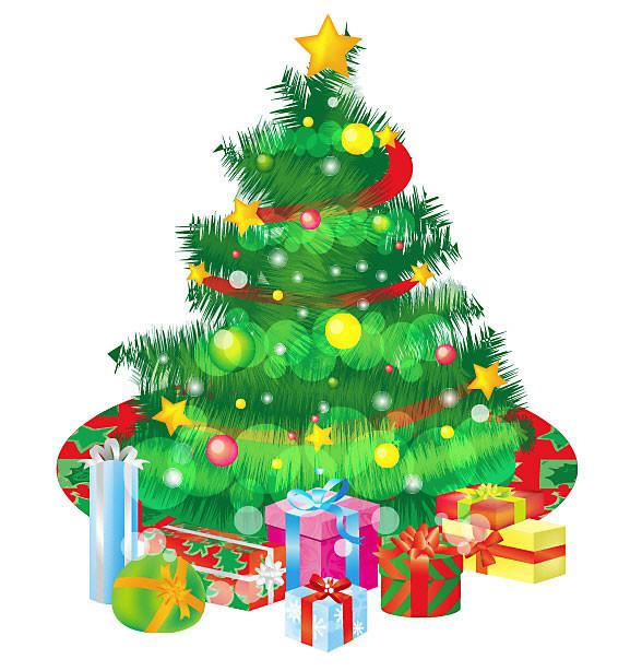 Красивые и интересные картинки новогодней елочки для детей 10
