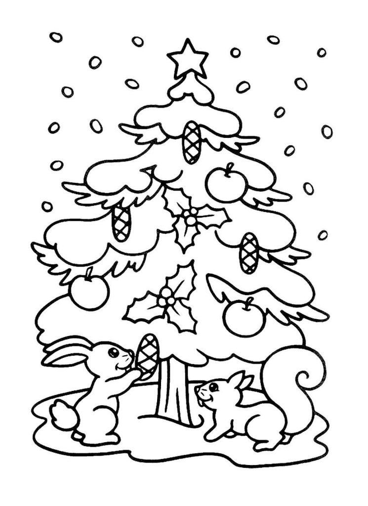 Анимаций, новогодняя елочка картинки раскраски