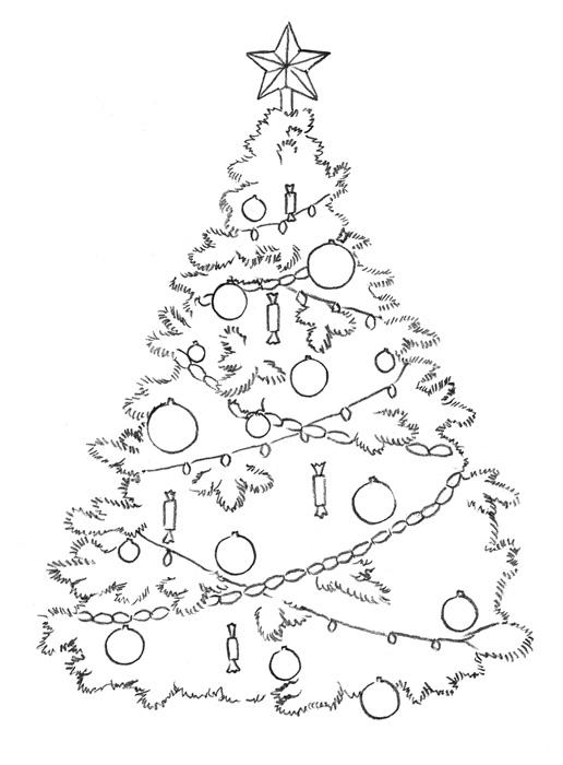 Красивые и интересные картинки новогодней елочки для детей 7